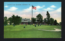 Rochester Minnesota Mn c1940s Country Club Clubhouse, Putting Green, Us Flag