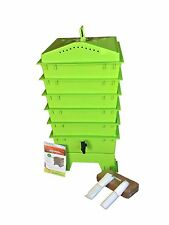 VermiHut 5-Tray Worm Compost Bin Lime Green