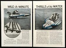 No-Vac Outboard Hydroplane Racing 1935 vintage pictorial