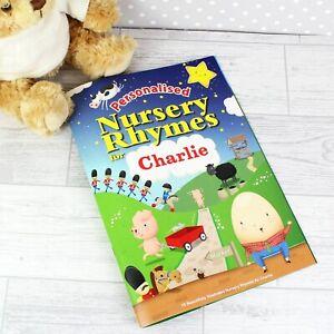 Personalised Nursery Rhyme Book Children's Gift Idea Christening 1st Birthday