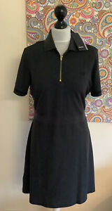 GORGEOUS FRED PERRY GREY SPORTY ZIP DRESS NEW WITH TAGS SIZE 14