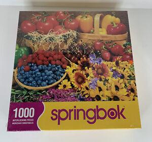 Jigsaw Puzzle • Garden Goodies Springbok • 1000 Piece • Flower Fruit • Sealed