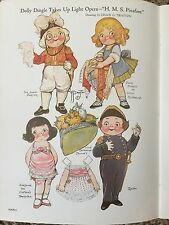 Dolly Dingle Takes Up Light Opera H.M.S. Pinafore ~ 1985 Repro of Antique Plate