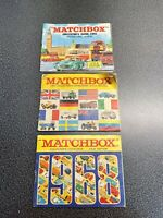 1966, 1967 And 1968 Matchbox Collectors Catalogs