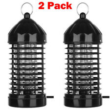 2 Pack Electric Mosquito Fly Bug Insect Zapper Killer LED Trap Lamp Stinger Pest