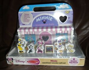 Melissa and Doug DISNEY'S Wooden Minnie Sweetheart WOOEDN Cafe  SET  NEW