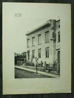 Jugendstil Architektur 1904 Wien Brunn a/G Seb. Hubatsch A.D. 1902 Haus 31x40cm