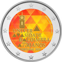 2 Euro Gedenkmünze Portugal 2020 coloriert  mit Farbe / Farbmünze Uni Coimbra 1