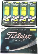 TITLEIST AVX YELLOW GOLF BALLS 1X DOZEN BRAND NEW IN BOXES