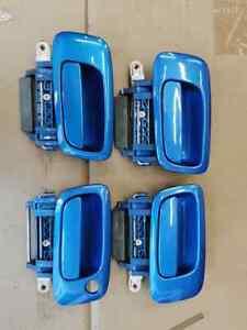 VAUXHALL ZAFIRA GSI TURBO DOOR HANDLES ARDEN BLUE FULL SET A MODEL