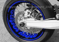 Aufkleber Felgenaufkleber Supermoto Yamaha XT 660 WR 125 250 450 X TT DT YZ YZF