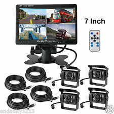 "7"" BACKUP REAR VIEW CAMERA SYSTEM FOR FARM EXCAVATOR TRACTOR FORKLIFT TRUCK RV"