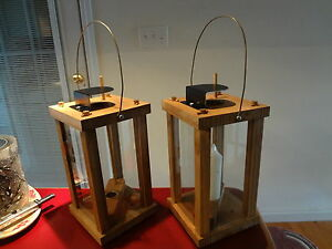 Candle Lantern ~  Wood Early American * Royal Rangers ~ FCF ~ * Lot of Two New!