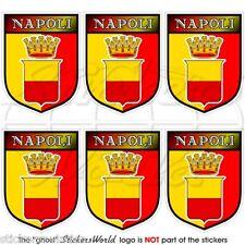 NAPOLI Città D'Italia Città di Napoli Scudo MOBILE CELLULARE MINI sticker-decal X6