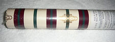 """WALL PAPER~Burgundy~Green~Cream~Gold~20&1/2""""Wide~11 Yards Long~NEW~FREE SHIP"""