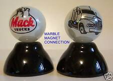2 MACK TRUCKS LOGO PEARL WHITE COLLECTOR MARBLES