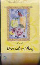 "NEW EVERGREEN ""TROPICAL FRU-FRU"" FUN FOR LUAU PARTY LARGE FLAG 29x43"""