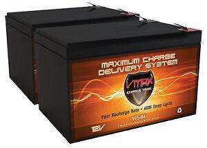 2 VMAX 12V 10AH Batteries for Schwinn Mongoose Electric Scooter, Battery UPGRADE