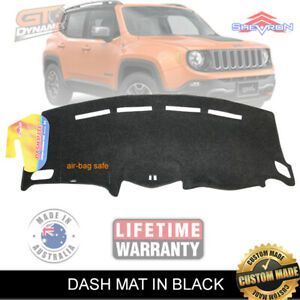 DASH MAT Jeep Renegade BU ALL MODELS 05/2015 to 2018 AIR-BAG SAFE DM1430 BLACK