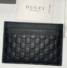 Gucci Card Holder Black Leather GG Wallet Men & Women RRP £200