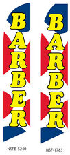 Two Barber 15 foot Swooper Feather Flag Sign