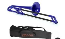 More details for jiggs p bone blue plastic trombone