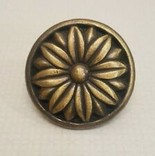 Heavy Flower Knob Drawer Pull MCM Decor Replacement Ctaft Project Mid Century