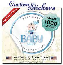"1000 Custom Stickers |  1"" Stickers | Custom labels | Waterproof Vinyl Stickers"