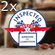 2x Stück NASCAR Inspected Aufkleber Sticker NHRA Hot Rod Drag Racing Autocollant