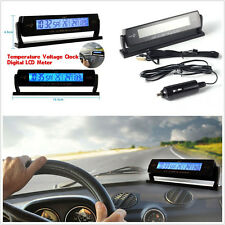 Multifunction Car SUV Temperature Voltage Meter LCD Monitor Alarming Gauge Clock