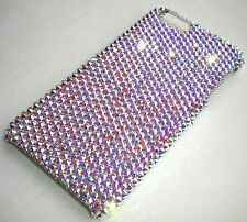 """CRYSTAL AB Bling Back Case for iPhone 6 6S Plus (5.5"""") made w/Swarovski Crystals"""