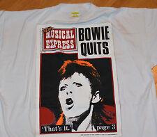 RaRe *1980's DAVID BOWIE* vtg ziggy stardust concert t-shirt (XL) 70s Rock God