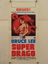 BRUCE LEE SUPER DRAGO regia Leekoon Cheung locandina originale 1977