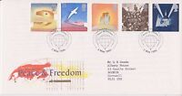 GB ROYAL MAIL FDC FIRST DAY COVER 1995 PEACE & FREEDOM STAMP SET LONDON PMK