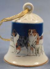 sheltie australien shepherd Porzellan glocke figur porzellan weihnachtsglocke 12