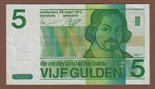 Geldschein 5 Gulden Niederlande 1973
