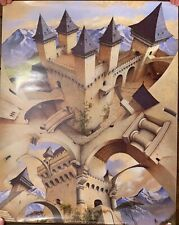 REDUCED! Escher-like Poster - CASTLE OF ILLUSION - NOS