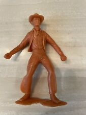 "Pair of 6"" Giant Marx Vintage Cowboy Plastic Figure Classic Toy!"