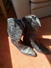Homme Cuir Bottes Cowboy Taille 9