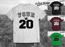 420 Addicted T Shirt Dope cannabis Wiz Humo Khalifa hombres mujeres marihuana Swag