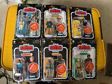Star Wars Set Completo De Colección Retro 6 cardada Kenner figuras Wave 2-Caja Sellada!