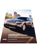 2012 Jeep Grand Cherokee Original Advertisement Print Car Ad J446