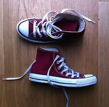 UNISEX RED CONVERSE ALL STARS SIZE UK 3