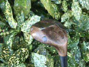 """UNUSUAL A. R. WHEILDON HICKORY SHAFTED """"THE LOFTER"""" DIMPLE SOLE BRASSIE SPOON"""