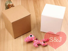 10x BROWN Square Cardboard DIY Kraft Boxes Wedding Bomboniere/Favour - MANY SIZE