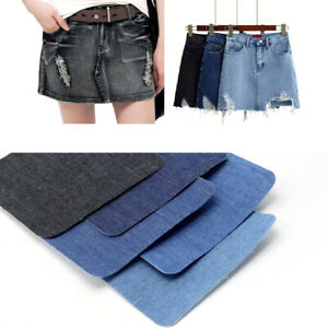 5x Iron On Repair Mending Jeans Trousers Fabric Patches Cotton Denim Quick Fix