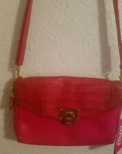 Lulu guinness  tango red handbag removable straps.
