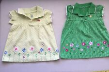 LOT 2 Carters Baby Girl 6M Spring Embroidery Dresses green