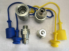 2 x Hydraulik Kupplung M18 AG Stecker 12-L + Muffe 12L Schutz blau gelb BG3 Gr.3