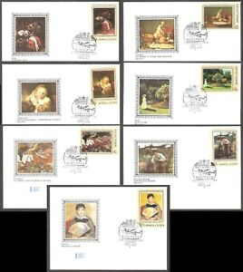 Foreign Paintings in Soviet Galleries 1973 USSR set 7 FDC Mi 4187-92
